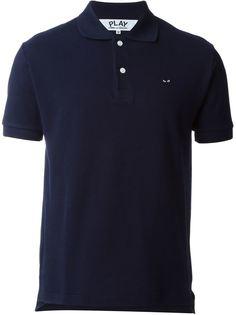 футболка-поло с вышивкой сердца Comme Des Garçons Play