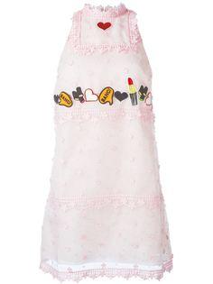 декорированное платье  Giamba