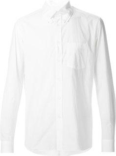 рубашка с планками на пуговицах на воротнике Yohji Yamamoto