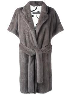 норковое пальто с короткими рукавами Simonetta Ravizza