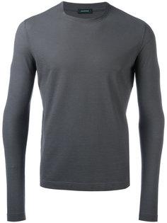 футболка с круглым вырезом Zanone