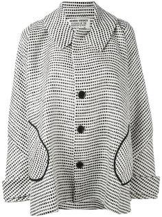 пальто свободного кроя с геометрическим узором Henrik Vibskov