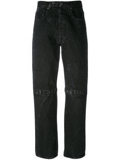 джинсы бойфренда с липучками Christopher Kane