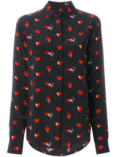 рубашка с мелким принтом Saint Laurent