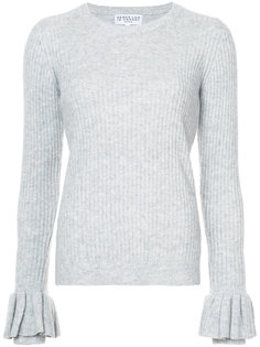 свитер с круглым вырезом с оборками на рукавах  Derek Lam 10 Crosby