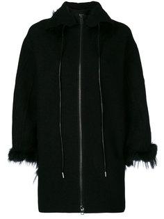 куртка на молнии с отделкой мехом Ermanno Scervino