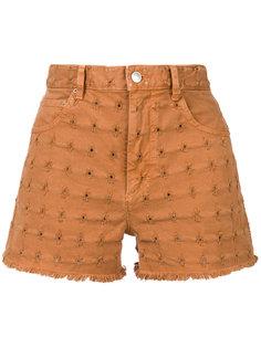 джинсовые шорты с вышивкой  Isabel Marant Étoile