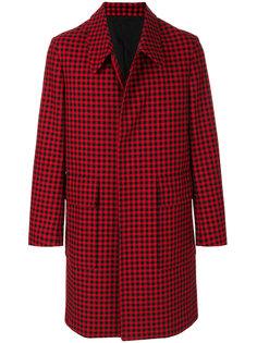 однобортное клетчатое пальто Ami Alexandre Mattiussi