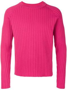 свитер в рубчик с круглым вырезом под горло Ami Alexandre Mattiussi