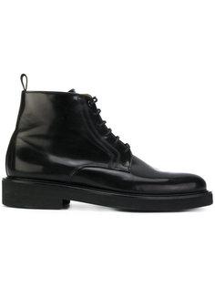высокие ботинки на шнуровке Ami Alexandre Mattiussi