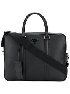 портфель с логотипом Prada