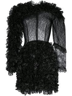платье-мини с оборками Christopher Kane