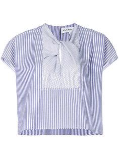 блузка в полоску с короткими рукавами  Carven