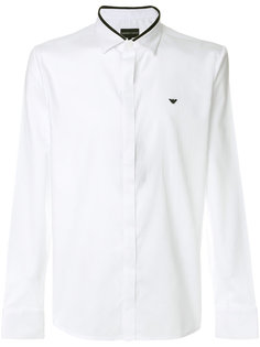 рубашка с вышивкой логотипа Emporio Armani