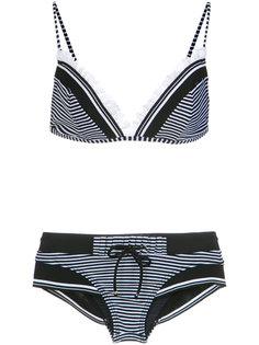ribbed trim bikini set Amir Slama