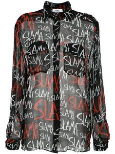 logo print shirt Amir Slama