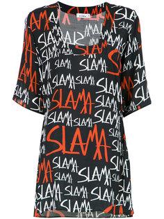 logo print shift dress Amir Slama