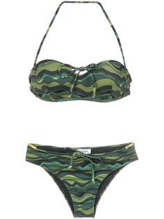 wave print bikini set Amir Slama