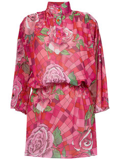 funel neck floral dress Amir Slama