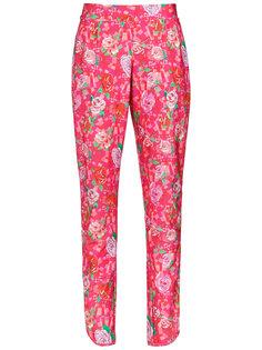 брюки с цветочным принтом Amir Slama