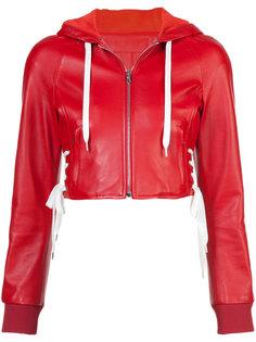 укороченная куртка с капюшоном  Red Valentino