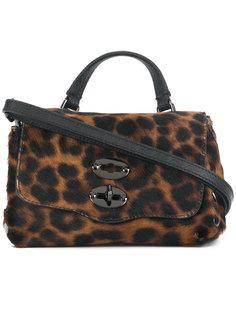 маленькая сумка-тоут Postina с леопардовым принтом Zanellato