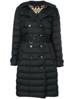 пуховое пальто с капюшоном Burberry