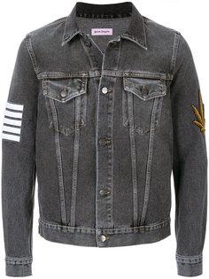 джинсовая куртка с принтом пальм  Palm Angels