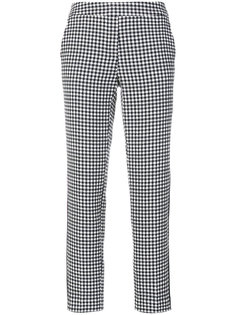 check cropped trousers  Luisa Cerano