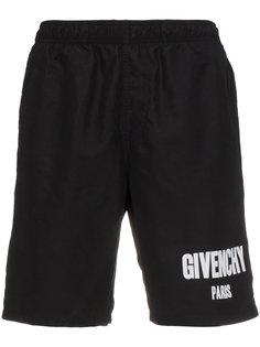шорты для плавания с логотипом Givenchy