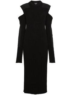платье миди в рубчик с вырезами Calvin Klein 205W39nyc