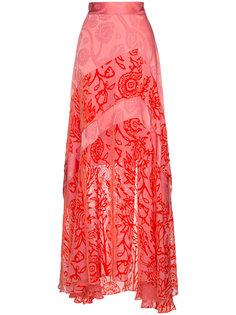юбка макси с цветочным принтом  Peter Pilotto