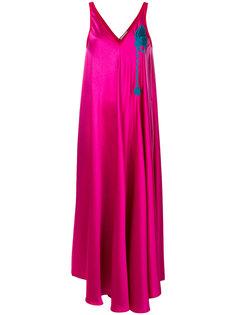платье макси с вышивкой Marco De Vincenzo