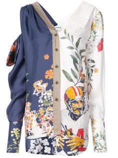 асимметричная рубашка с цветочным принтом Monse