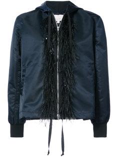 куртка-бомбер с перьями Cinq A Sept