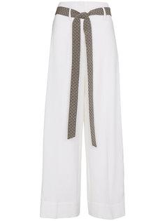 широкие брюки с контрастными полосками  Racil