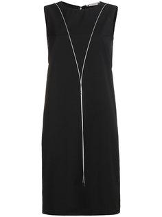 платье без рукавов с отделкой металлик  Alyx