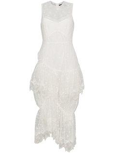 платье без рукавов с кружевной отделкой Simone Rocha