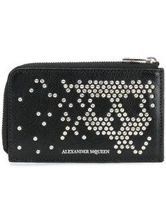 кошелек с абстрактным рисунком черепа из заклепок Alexander McQueen