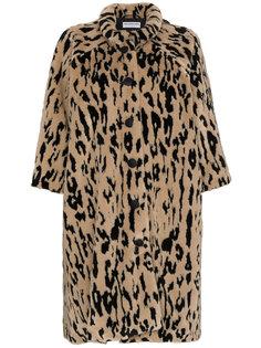 пальто с леопардовым узором Opera Balenciaga