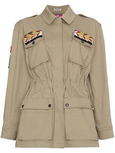 куртка в стиле милитари с отделкой  Miu Miu