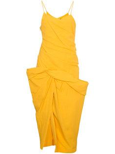 платье на тонких лямках с драпированным подолом  Jacquemus