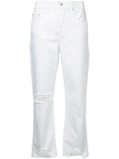 джинсы с завышенной талией с эффектом потертости Nobody Denim