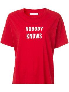 футболка Nobody Knows Nobody Denim