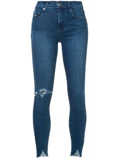 джинсы скинни с рваными деталями Nobody Denim