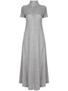 расклешенное длинное платье с поясом  Maison Margiela