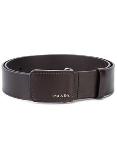 ремень с логотипом на пряжке Prada