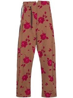 брюки с цветочным принтом и высокой талией Bed J.W. Ford
