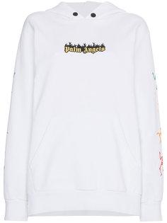 оверсайз-толстовка с капюшоном и логотипом  Palm Angels