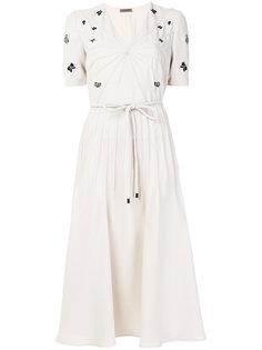 платье с V-образным вырезом Bottega Veneta